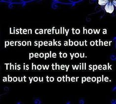 true story.  and think about how you speak about others.  are you different? kinder?