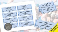 Event Ticket Template Word Event Tickets Editable Word Template Printable Instant Download .