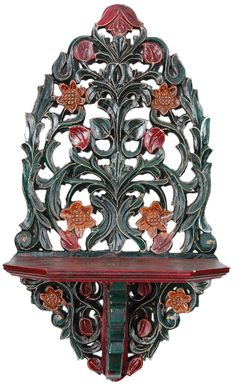 Flower Wall Hanging [7333] - wall brackets, Indian Handicrafts, Indian Handicrafts Online