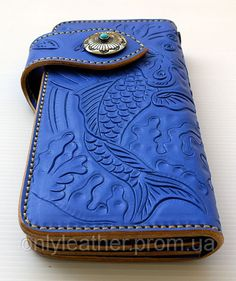 Антик - паста для кожи 80гр синяя SHEIWA Leather Craft, фото 2