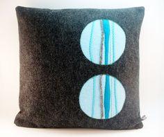 Decorative Pillow Dark Gray Pillow Modern Pillow Felt Pillow
