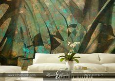 Prachtige kleuren in deze mural van Affreschi & Affreschi.  www.puurkleur.com