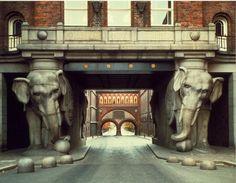 The Elephant Tower on the Carlsberg Brewery, Copenhagen, Denmark.