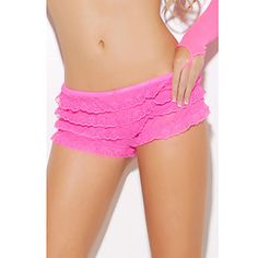 Women's Pleated Layered Lovely Pink Panties(Bust:86-102,Waist:58-79,Hip:90-104CM) #Fashion Weekly #7showing pink