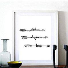 Pintura de Pared Impresión de Esperanza amor Moderna de Lona Arte Decoración Salón Oficina Regalo - 72163 , 1 , 40X50cm