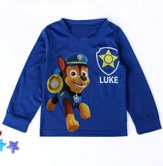 Casual Long Sleeve Dog Patrol Pattern T-Shirt For Boys #men, #hats, #watches, #belts, #fashion, #style
