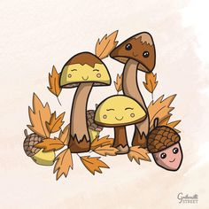Doodle kawai pour l'automne #calendrier #novembre