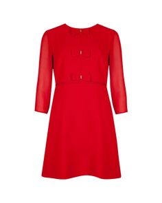 Bow detail dress - Red   Dresses   Ted Baker
