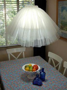 abat jour DIY lampe suspendue tissu                                                                                                                                                     Plus