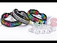 MONSTER TAIL® Loom TWIN STRIPE Bracelet. Designed and loomed by Rob at justinstoys. Click photo for YouTube tutorial and preview of this new Rainbow Loom product. 03/21/14.