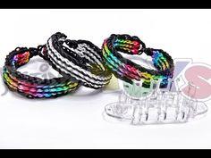 Twin stripe bracelet using monster tail