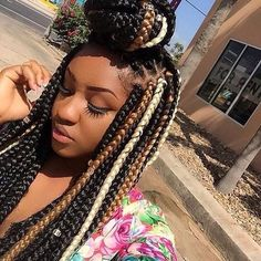 Box braids multi colored
