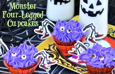 Halloween Treat: Monster Four Legged Cupcakes