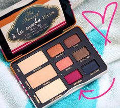 Too Faced A La Mode Eye Palette from the summer 2014 collection