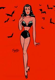 Planet X - swampthingy: Sveta Shubina Halloween Pin Up, Halloween Cartoons, Vintage Halloween, Cindy Kimberly, Vintage Cartoon, Vintage Comics, Willem De Kooning, The New Yorker, Matisse