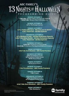 ABC Family 13 Nights Of Halloween 2014 Schedule