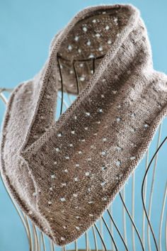 Simple Eyelet Cowl Balls to the Walls Knits, A collection of free one- and two- skein knitting patterns