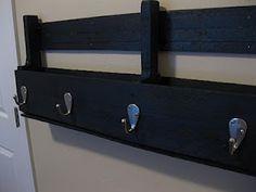 Pallet shelf/coathook....