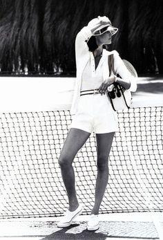 Classic tennis getup.