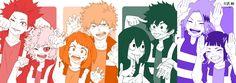 Boku no Hero Academia || Kirishima Eijirou, Mina Ashido, Uraraka Ochako, Katsuki Bakugou, Tsuyu Asui, Midoriya Izuku, Kaminari Denki, Kyouka Jirou.