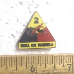 US Army - 2nd Armored Division Pin