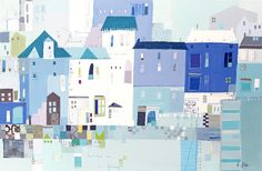 Padstow Cornwall (LP59) Padstow Art Print by Liz and Kate Pope http://www.thewhistlefish.com/product/p-lp59-padstow-cornwall-print-by-liz-and-kate-pope
