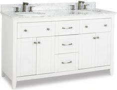 Cabinet Boxes - Vanity Cabinets - Page 16 - Cabinet Now Wood Vanity, Diy Vanity, Vanity Cabinet, Carrara Marble, Marble Top, Jeffrey Alexander, Cabinet Boxes, White Vanity, Dovetail Drawers