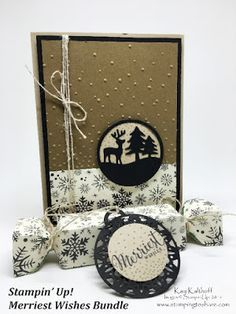 Merriest Wishes Bundle Plus How To Video for creating the Deer Medallion Card, Stampin\' Up!, Kay Kalthoff, This Christmas Specialty Designer Series Paper, #stampingtoshare