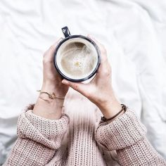 She gets the tea/coffee love from Sigil, the cozy sweater love from Keir & the jewelry love from Rose Coffee Is Life, Coffee Love, Coffee Art, Coffee Break, Morning Coffee, Coffee Shop, Coffee Cups, Morning Mood, Coffee Menu