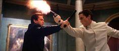 Angus Macfadyen and Christian Bale