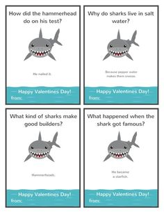 Shark Valentine Cards Printable Jokes Shark Valentine for Valentine Jokes, Valentines For Boys, Valentine Day Cards, Happy Valentines Day, Shark Jokes, Funny Jokes For Kids, Kid Jokes, Lame Jokes, Jokes And Riddles