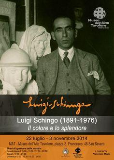 """Manifesto """"Luigi Schingo (1891-1976) Il colore e lo splendore"""" (22 luglio - 3 novembre 2014)"""