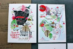 Do you think I should paint a map like this for my wedding invite? ;)