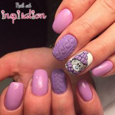 Even on a cold Christmas day, you can still be a sweet girl, just choose a relief manicure and wear a sweater. Xmas Nails, Holiday Nails, Christmas Nails, Fancy Nails, Bling Nails, Nailart, Nails For Kids, Modern Nails, Sweater Nails