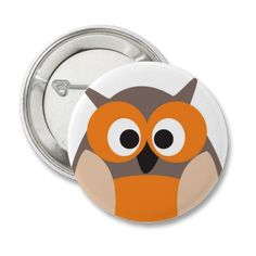 Funny staring cartoon owl button from http://www.zazzle.com/funny_staring_cartoon_owl_button-145037580921107131