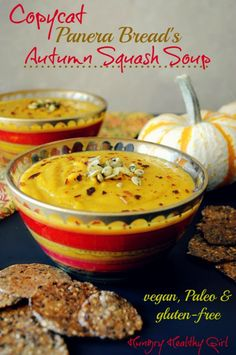 Autumn Squash Soup (copycat Panera recipe) #glutenfree #vegan #paleo