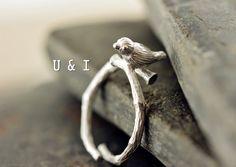 Silberring+Ring+Silber+von+U+&+I+auf+DaWanda.com