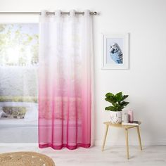 Ombre Home Marley Sheer Eyelet Curtain Pink 140 x 223 cm