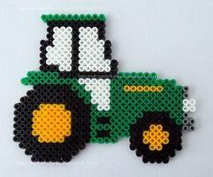 John Deere tractor hama beads by Las cosicas de Luisa
