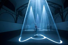 Anthony Mccall: five minutes of pure sculpture / exhibition at hamburger bahnhof, Berlin