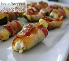 Tried these and turned out amazing! Even with out the bacon!  Bacon Wrapped Jalapeno Poppers - Love and Bellinis