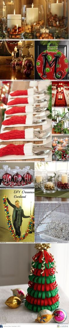 Christmas Decorations, stocking on the table