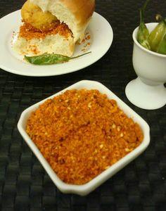 Spicy Garlic Chutney for Vada Pav ~ Daily Swad Sugandh
