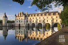 Evening Sunlight, Chateau Chenonceau, Castle, River Cher, Indre-Et-Loire, France Photographic Print by Brian Jannsen at Art.com
