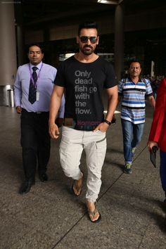 John Abraham at the Airport on 20th June 2017