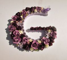 Custom name - Purple name letter - Personalized letter - Wooden name letter - Birthday gift - Nursery decor - Wall decor - Photo prop by PreciousGiftsbyDiane on Etsy