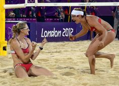Kerri Walsh Jennings and Misty May-Treanor won their third beach volleyball gold medal. They are awesome!