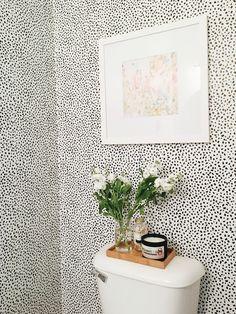 Garvin and Co.: Powder Bath Refresh - Home Decors Bathroom Wallpaper, Of Wallpaper, Garvin And Co, Little Baby Garvin, Interior And Exterior, Interior Design, Temporary Wallpaper, Bathroom Inspiration, Bathroom Ideas