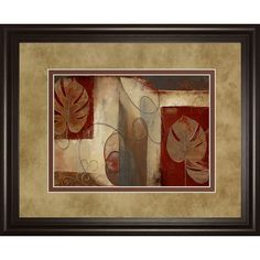 Found it at Wayfair - Inspiration in Crimson by Patricia Pinto Framed Painting Print
