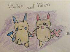Plusle and Minun: Credit-Hyrulean Pikachu